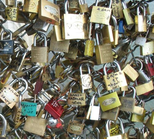 Cadeados na Pont des Arts, Paris