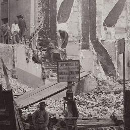 Percement de l'avenue de l'Opéra: chantier de la rue d'Argenteuil Charles Marville 1876, dezembro