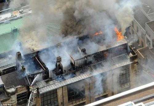 Incêndio na Glasgow School of Art. 23 maio 2014