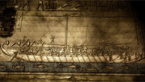 Viagem da rainha Hatshepsut à terra de Punt  C.1478/72-1458 Deir-el-Bahari, templo funerário de Hatshepsut