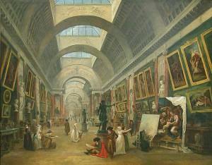 Projecto para a grande galeria do Louvre Hubert Robert 1796 Paris, Musée du Louvre  © Musée du Louvre/A. Dequier - M. Bard