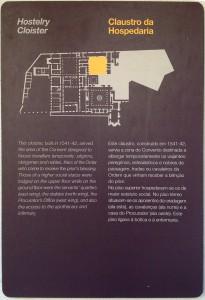 Texto informativo no Convento de Cristo, em Tomar. Foto: MIR, 2013.