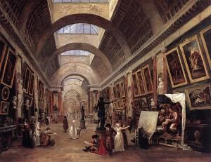 Projet d'aménagement de la Grande Galerie du Louvre, vers 1789 Hubert Robert, 1796 Paris, Musée du Louvre