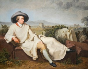 Goethe na Campagna Romana Johann Heinrich Wilhelm Tischbein, 1787 Frankfurt, Städelsches Kunstinstitut und Städtische Galerie