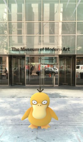 Pokéstop à entrada do MoMA Foto: Gretchen Scott, 2016