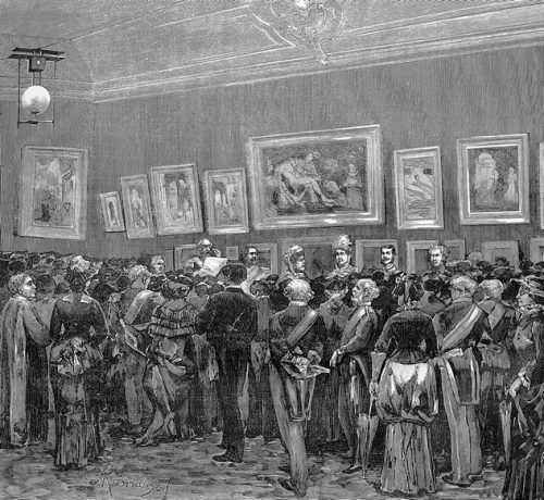 Inauguração da Exposição Retrospectiva de Arte Ornamental, no Museu Nacional de Bellas Artes <br> O occidente. (21 Jan. 1882). 5(111), 17.