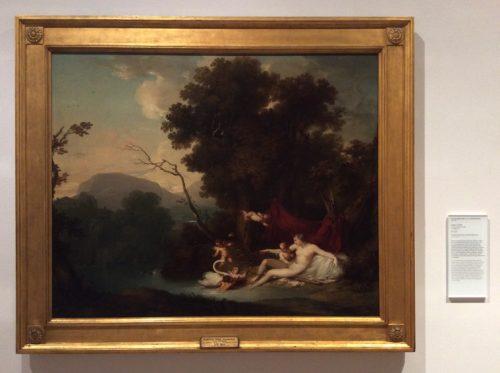 Leda e o Cisne Francisco Vieira, dito Vieira Portuense, datado de 1798 MNAA Inv. 1169 Pint Foto: MIR, 2016