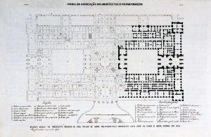 Planta do primitivo projeto do Real Palácio da Ajuda José da Costa e Silva, 1802 Lisboa, Palácio Nacional da Ajuda