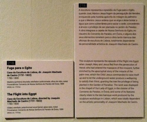 """Fuga para o Egipto: tabela e texto Lisboa, MNAA, exposição """"O museu que vamos deixar de ver"""" Foto: MIR, 2016"""